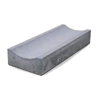 Желоб бетонный мелкий 50 см. серый
