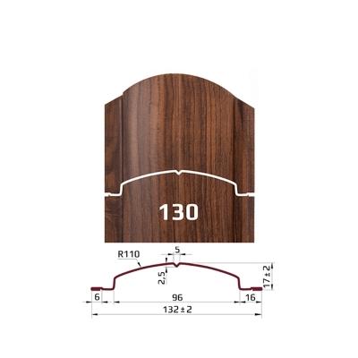 Металлоштакетник Европланка (130 мм)